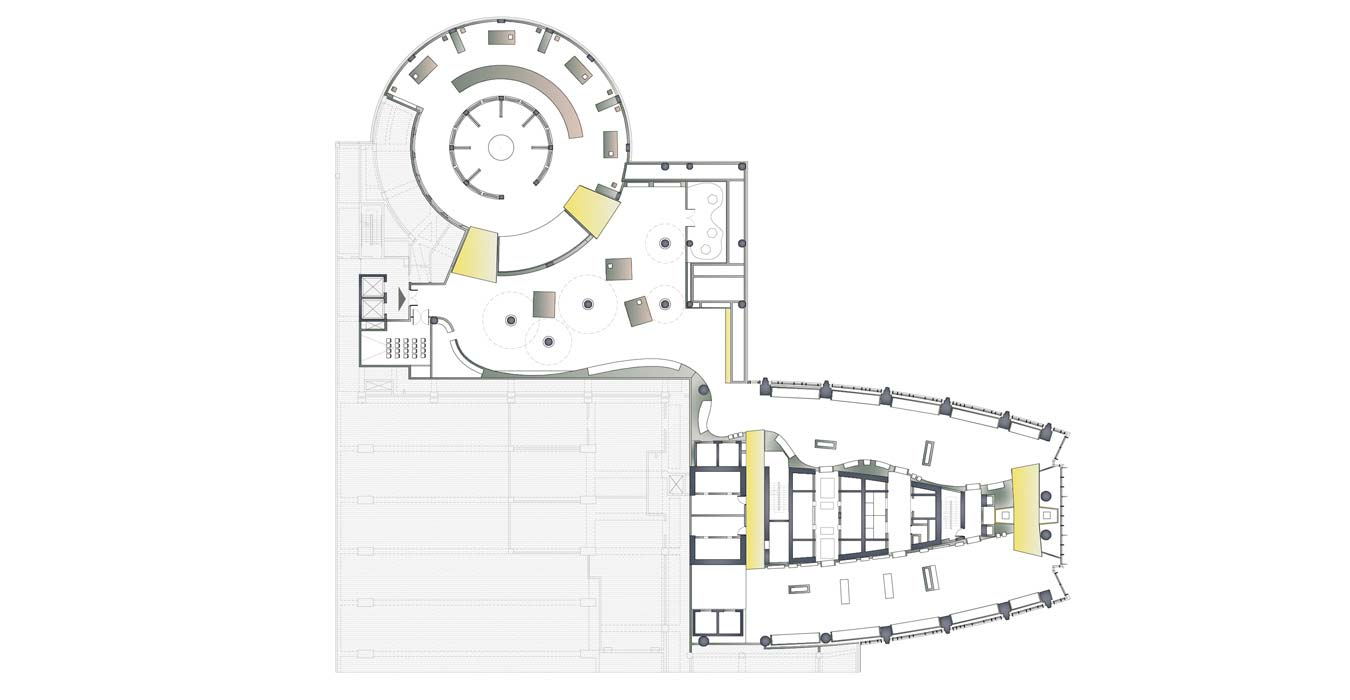 Architectural plan of the Carpet Museum.