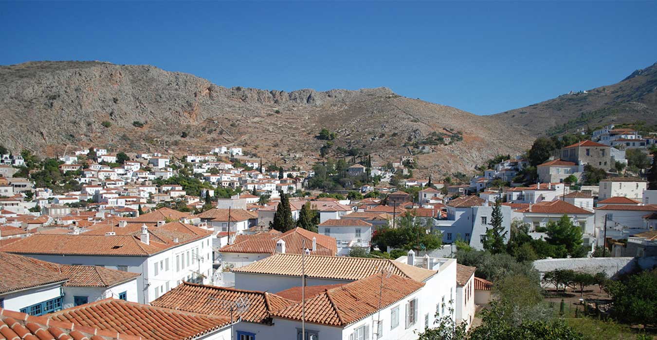 View of the picturesque Hydra from the window of the renovated residence.