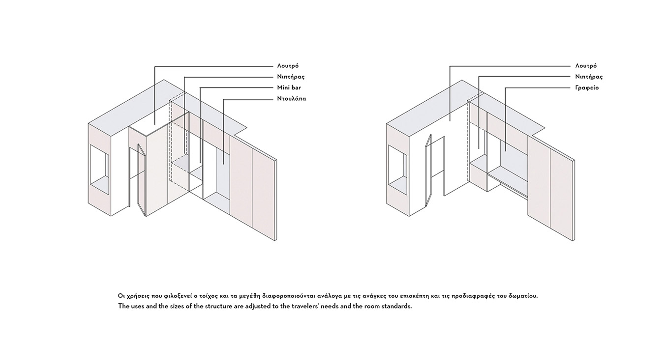 perspective view presentation of a hotels' room structure