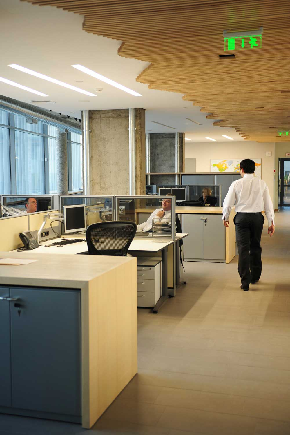 Open plan working space