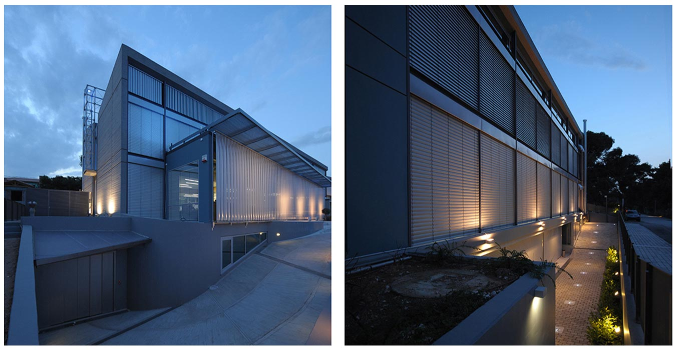 External night façade views